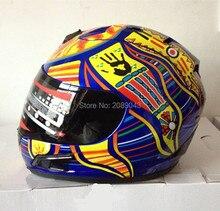 Новое поступление марка MRC валентино росси мотоциклетный шлем MOTO полный шлем картинга motociclistas capacete DOT M / L / XL / XXL