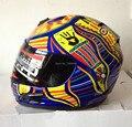 Nueva marca de la llegada MRC Valentino Rossi casco de MOTO MOTO de la cara llena Kart racing motociclistas capacete DOT M / L / XL / XXL