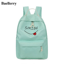 Бренд элегантный дизайн рюкзак Для женщин характер печати Рюкзаки Школьные сумки для подростка Обувь для девочек школьный женский дорожная сумка