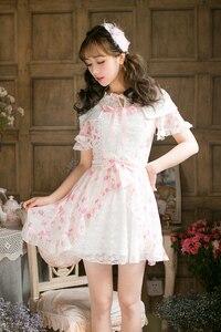 Image 1 - Prenses tatlı lolita elbise yeni şeker tatlı ince kısa kollu Japon tarzı C22AB7066