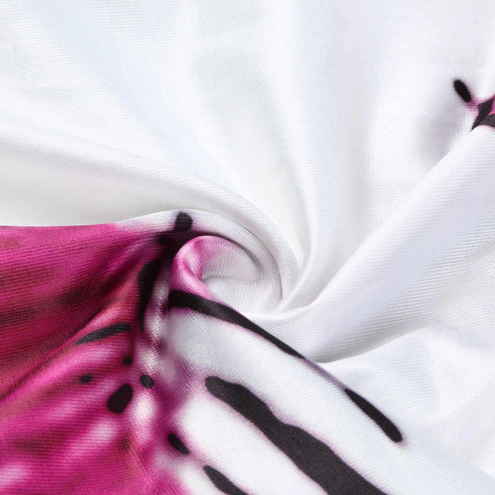 Женский спортивный костюм одежда повседневные Комбинезоны для женщин сексуальный с цветочным принтом Блестящий Свободный комбинезон Mujer