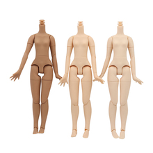 Azone body white natural black skin A Cup  body 20cm 8.5 inch For 1/6 doll blyth joint Body suitable for DIY change the body ICY