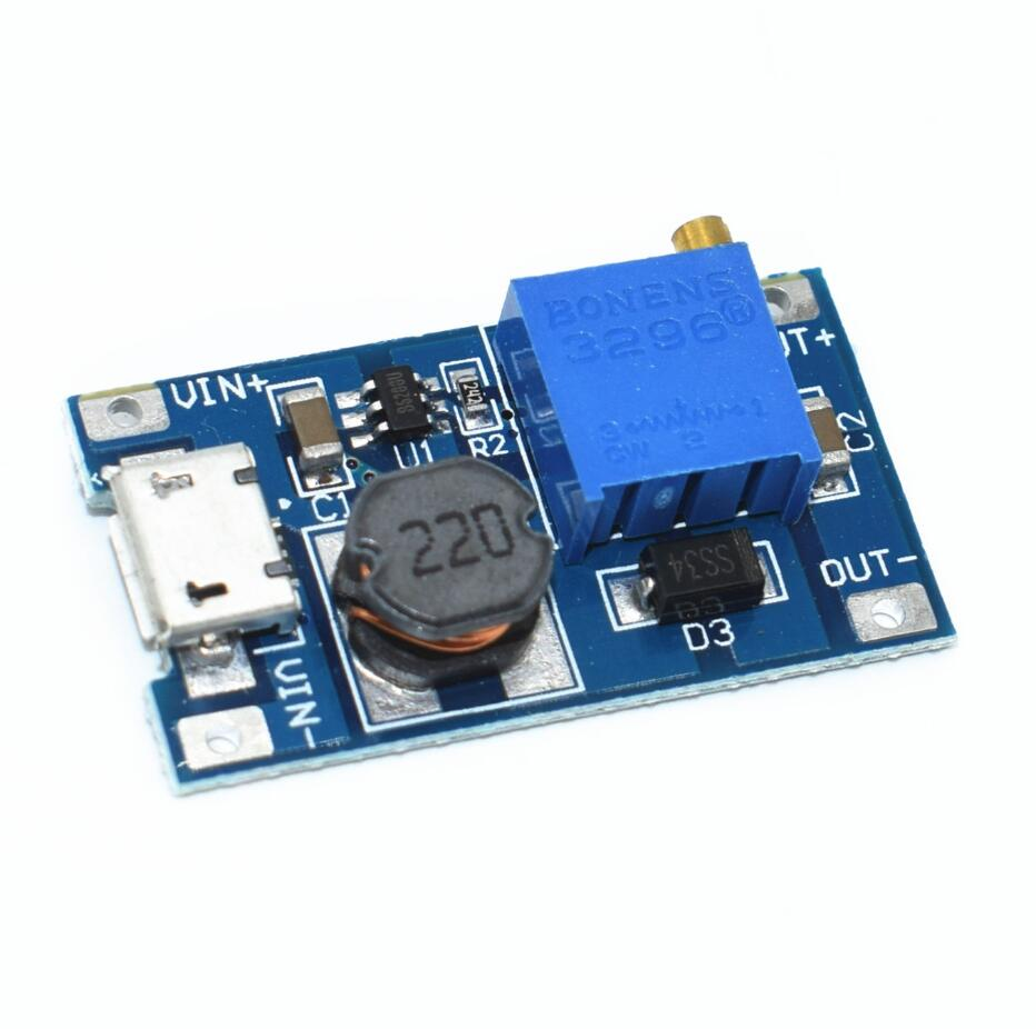 MT3608 2A Max DC-DC Step Up Power Module Booster Power ModuleMT3608 2A Max DC-DC Step Up Power Module Booster Power Module