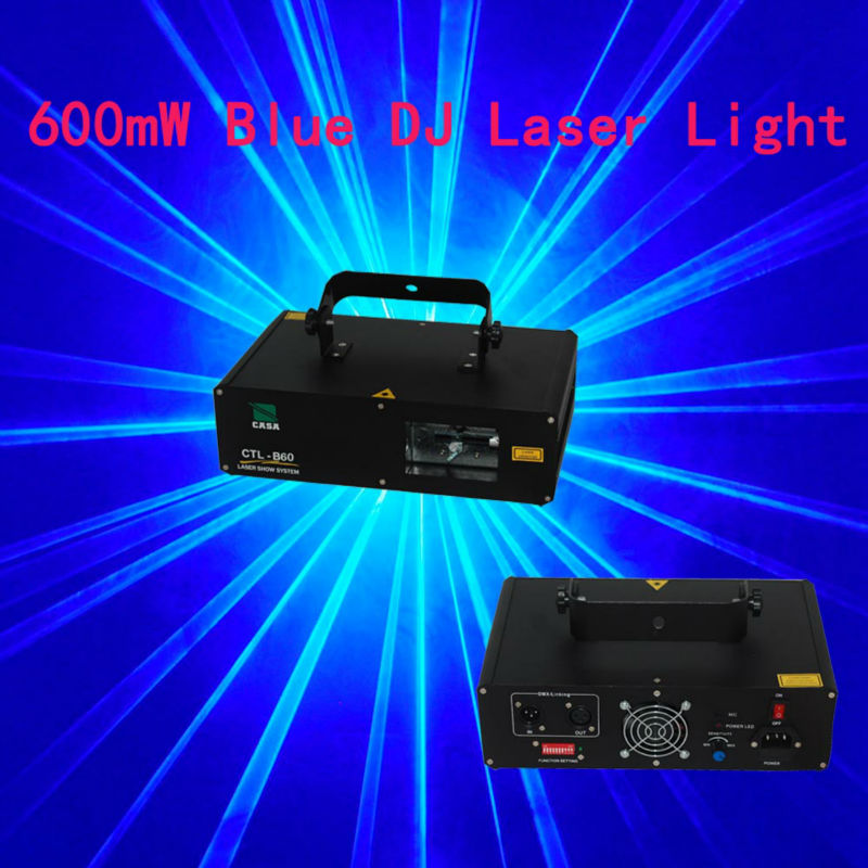 Professional DJ Laser Light 600mw blue single Stage Lighting Show Beam sound active,DMX,Manual