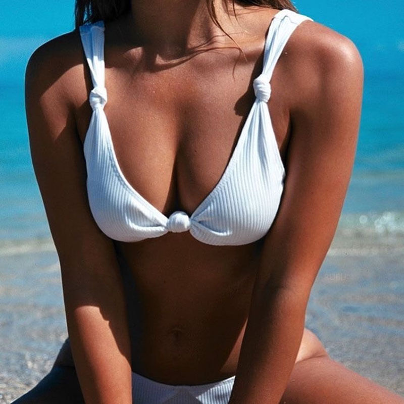 Black Friday Deals 2017 New SexyWomen Knot Push-up Padded Bra Bandage Bikini Set Swimsuit e Swimwear Bathing