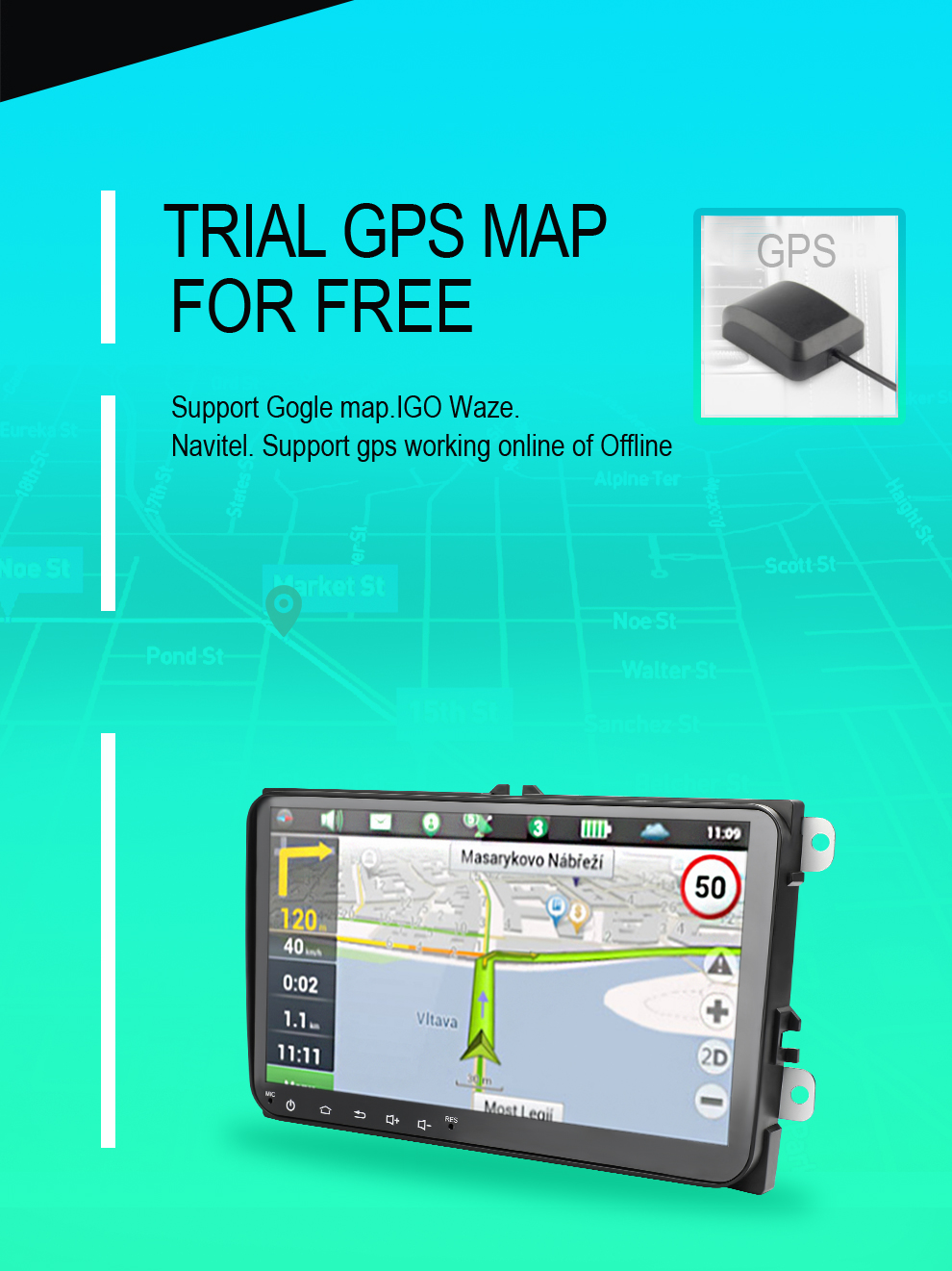 Car DVD GPS android 7.1 Player 2din radio universal Wifi GPS Navigation Audio For Skoda Octavia Fabia Rapid Yeti Superb VW Seat (14)