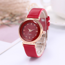 Fashion women watches PU Leather Band Analog Quartz Diamond Ladies Wristwatch Simple Watches for women Clock relogio feminino simple fashion wooden printed men women watches pu leather quartz wrist watch analog dial watches clock relogio feminino 2017