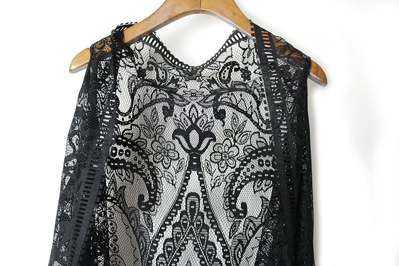 Summer Spring Women Bohemian Style Lace Vest Cotton Tassel Vests Sleeveless Open Stitch Vests Tops Clothing in Vests amp Waistcoats from Women 39 s Clothing