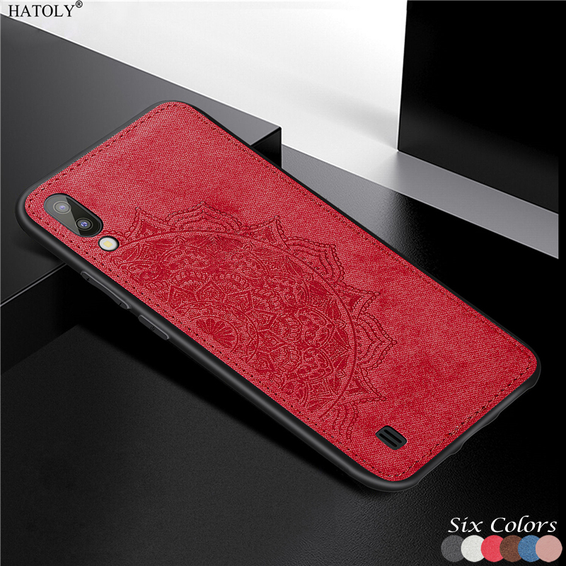 Case For Samsung Galaxy M10 Cover For Samsung Galaxy M10 20 S9 S10 Plus TPU Frame Cloth Fabric Phone Case for Samsung Galaxy M10