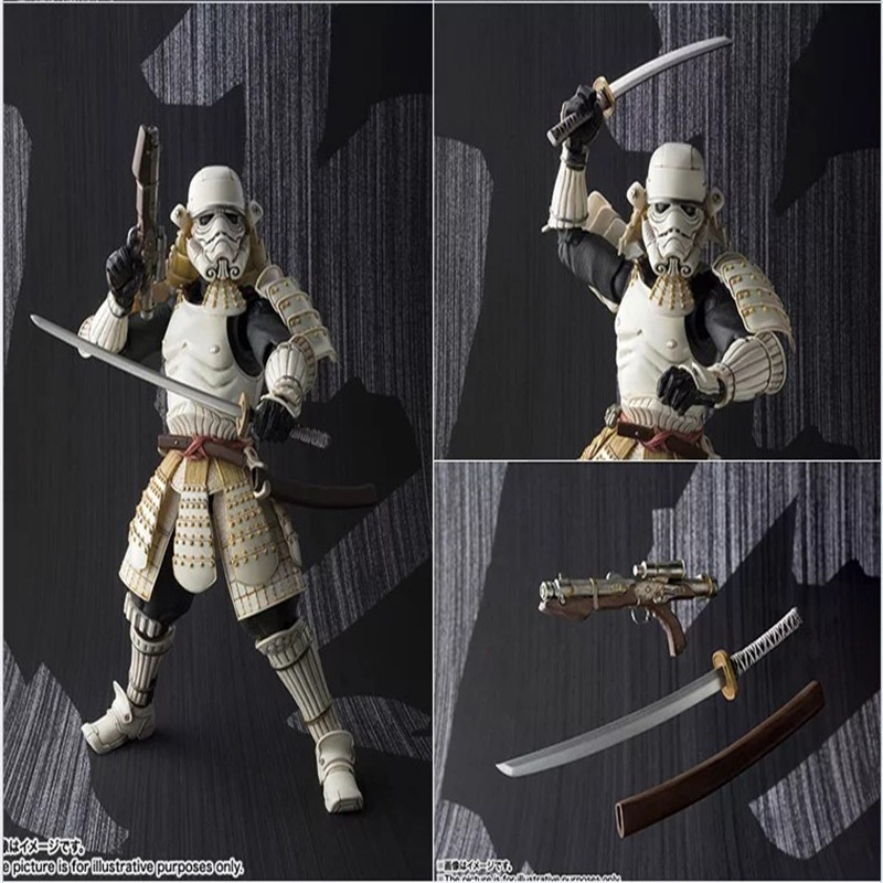 Star Wars MOVIE REALIZATION - Stormtrooper Darth Vader Boba Fett Sic Samurai Taisho <font><b>Action</b></font> <font><b>Figure</b></font> Model Kids Toy Doll for kids