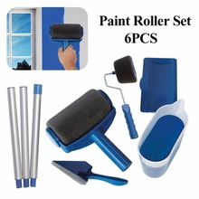 2018 Paint Runner Pro Roller Brush Handle Tool Flocked Edger Office Room Wall Painting Home Garden Tool Roller Paint Brush Sets