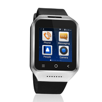 S8 Smart Wristwatch Fitness 1G Dual Core For Android4.4 Smart Watch Silver GPS Chip Ultra Call Reminder Smart Band