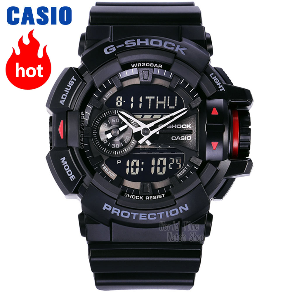 Casio watch G-SHOCK Men's Quartz Sports Watch Smart Music Bluetooth Dual Display g shock Watch GA-400
