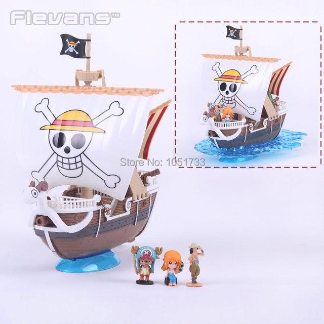 Бесплатная Доставка! Японского Аниме One Piece Going Merry Корабль Лодка Модель ПВХ Фигурку Коллекция Модель Игрушки Подарок На День Рождения