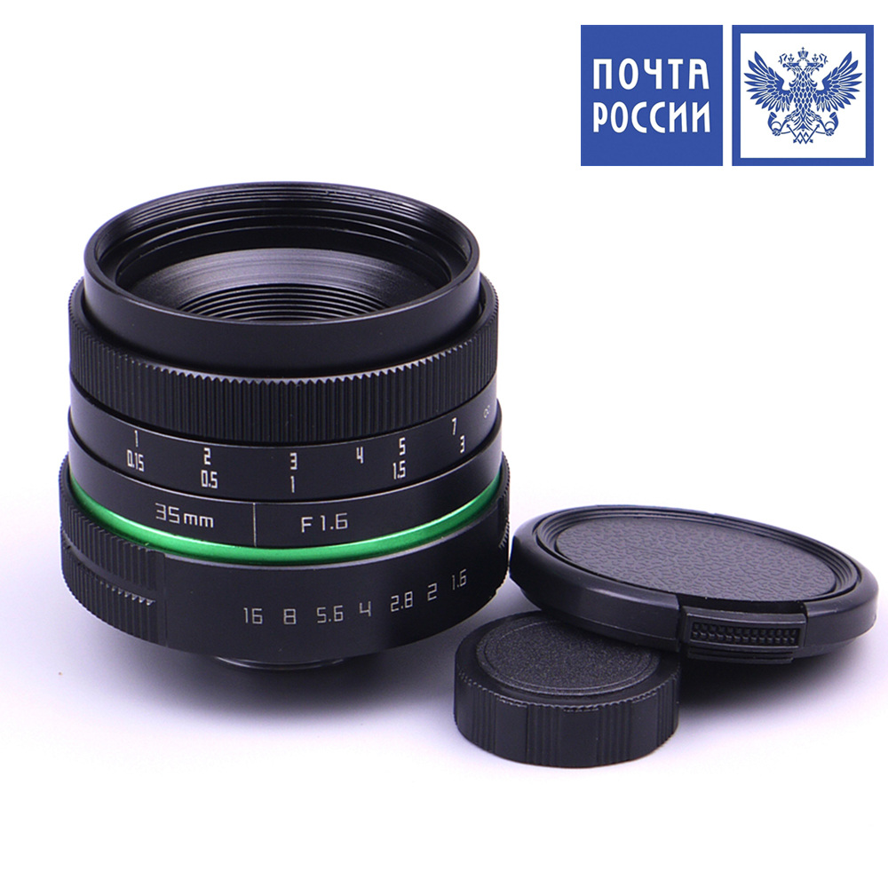 Adplo Ship From Russia 35mm f/1.6 APS-C Lens Green circle Lens 35mm Upgraded Style Manual Iris Lens Suit For Mirrorless Camera new and original for niko 35mm f 1 4g 35mm name plate jaa13451 1310