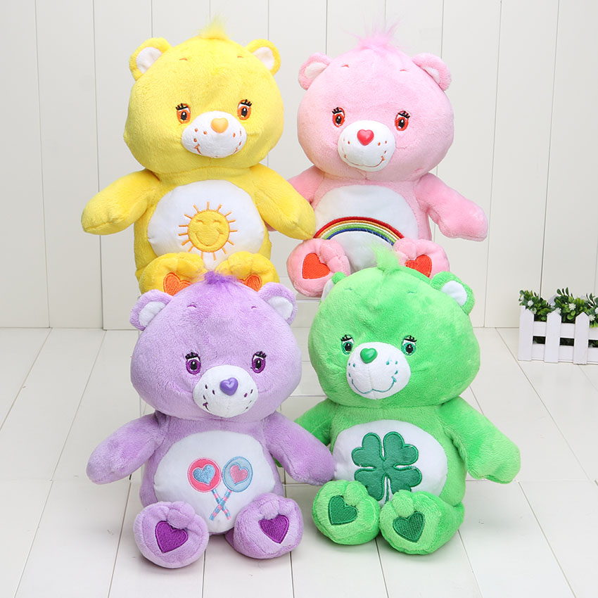 4pcs/lot 30cm care bears Soft Plush toy Stuffed doll Animal doll for gift 30cm stuffed