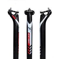 2017 ultraleve fibra de carbono completo bicicleta selim ec90 tubo do assento mtb selim tubo do assento estrada 27.2 30.8 31.6mm