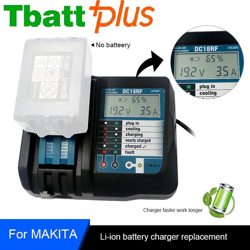 For Makita 14.4-18V Lithium Battery Charger Fast Charging DC18RC for BL1815