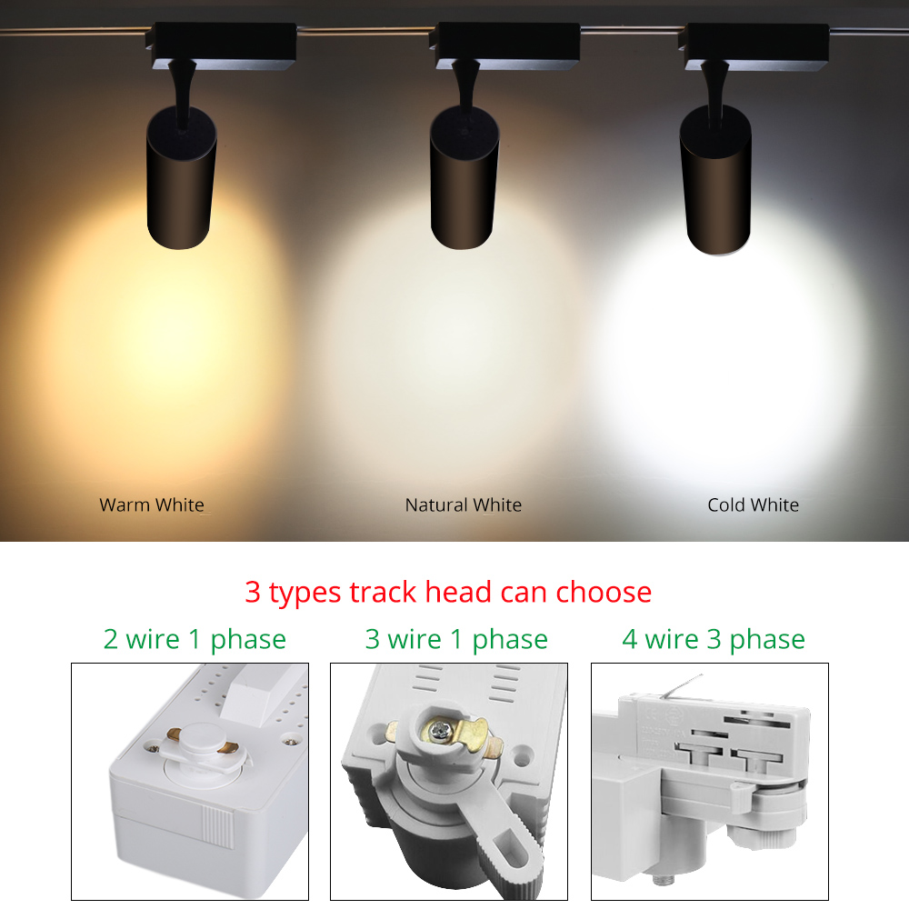 Led Adjustable Track Light Zoomable Rail Spot 12w 20w 30w Modern Fluorescent Lighting Fixtures On Wiring In Series Clothing Store Shoes Shop Spotlights Lamps From Lights