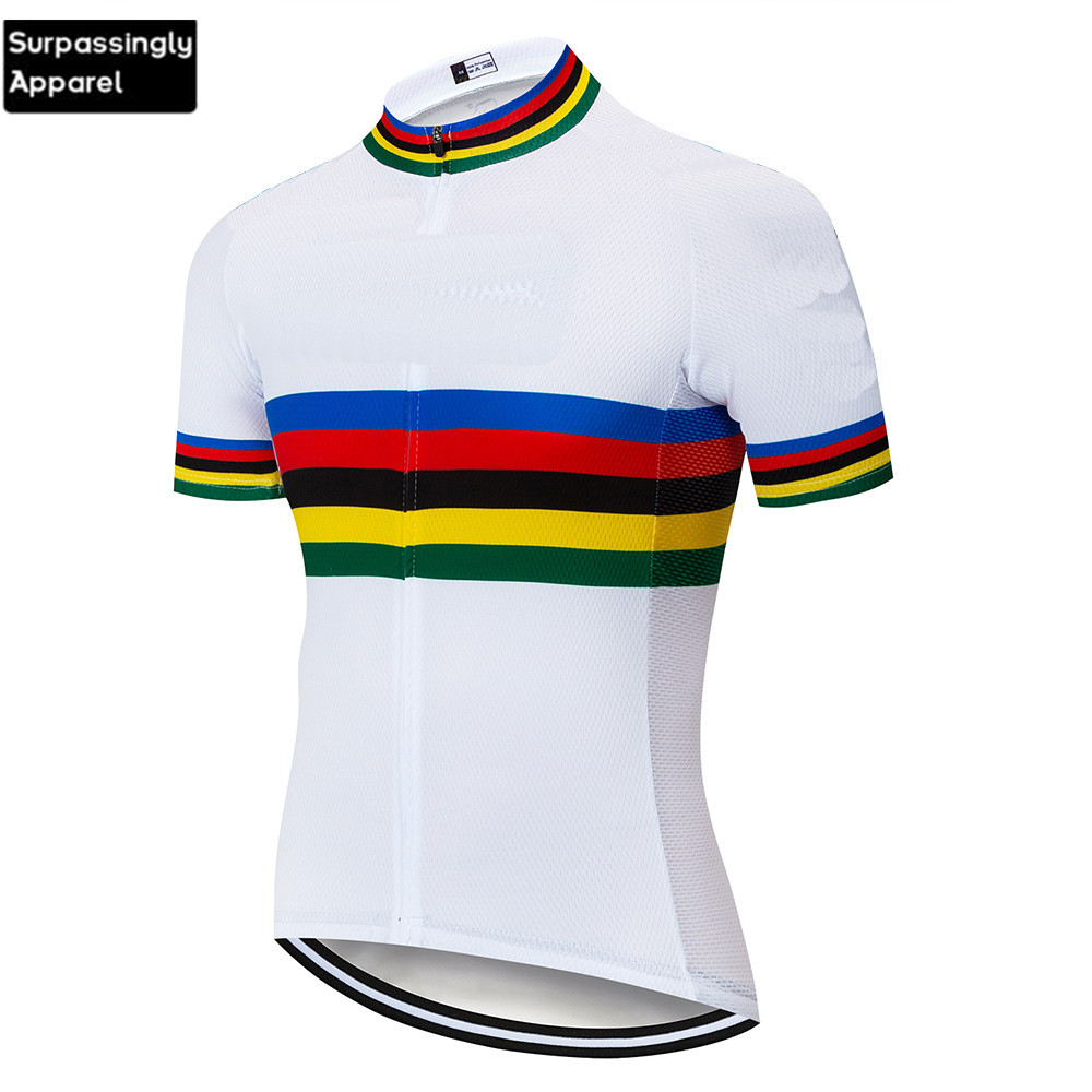 2019 Men Pro UCI Custom Teams White Cycling Clothing Motorcycle DH Downhill MX MTB Tshirt Wear Short Sleeve Cycling Jersey