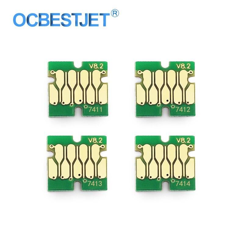 T7411-T7414 T7411 Ink Tank Chip For Epson SureColor F6000 F6070 F6200 F6270 F7000 F7070 F7100 F7170 F7200 F7270 Cartridge Chip