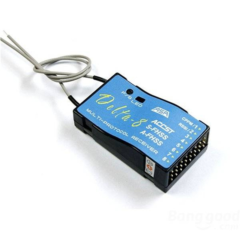 ФОТО FrSky S-FHSS 8CH Delta-8 Receiver For Futaba T6J T8J 4PL 14SG Transmitter Rc Parts