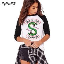 Southside Serpents футболка женская с длинным рукавом хлопковая Футболка Harajuku ривердейл дизайн женская Повседневная футболка осенние хлопковые футболки
