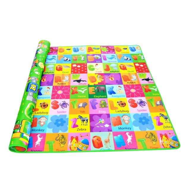 Dziecko indeksowania mata do zabawy 2*1.8 metr Climb Pad dwustronnie owoce litery i Happy Farm zabawki dla dzieci Playmat dywan dla dzieci dziecko gry