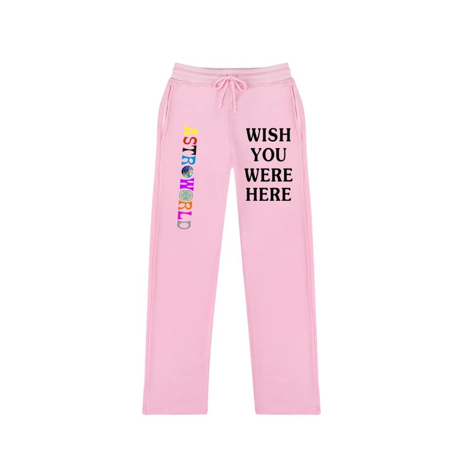 44a8a85d5 Fashion 2018 Travis Scotts ASTROWORLD 100% Cotton Women Men Trousers ...