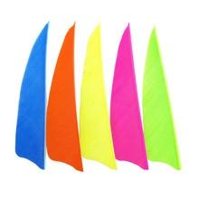 60pcs Archery Arrow Feather 3 Nature Turkey Feaching Vanes 5 Colors Bow Accessories