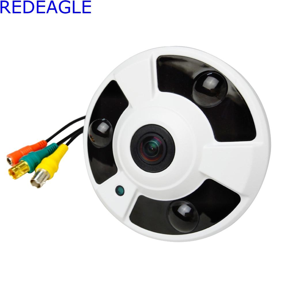 REDEAGLE 180 Degree FishEye HD SDI Security Camera CCTV Panoramic CMOS 2MP 1080P Dome Cameras with Power Supply AdapterREDEAGLE 180 Degree FishEye HD SDI Security Camera CCTV Panoramic CMOS 2MP 1080P Dome Cameras with Power Supply Adapter