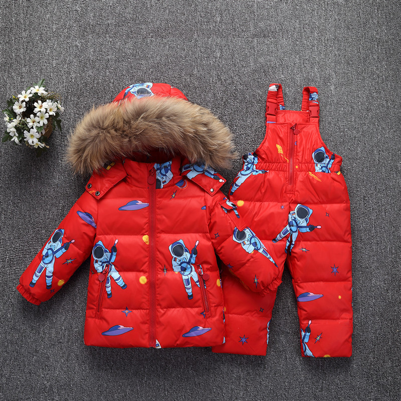 -35 Degree Russia Winter Warm Down Jacket For Baby Girl Clothes Children Clothing Sets Boys Parka Real Fur Coat Kids Snow Wear цена 2017