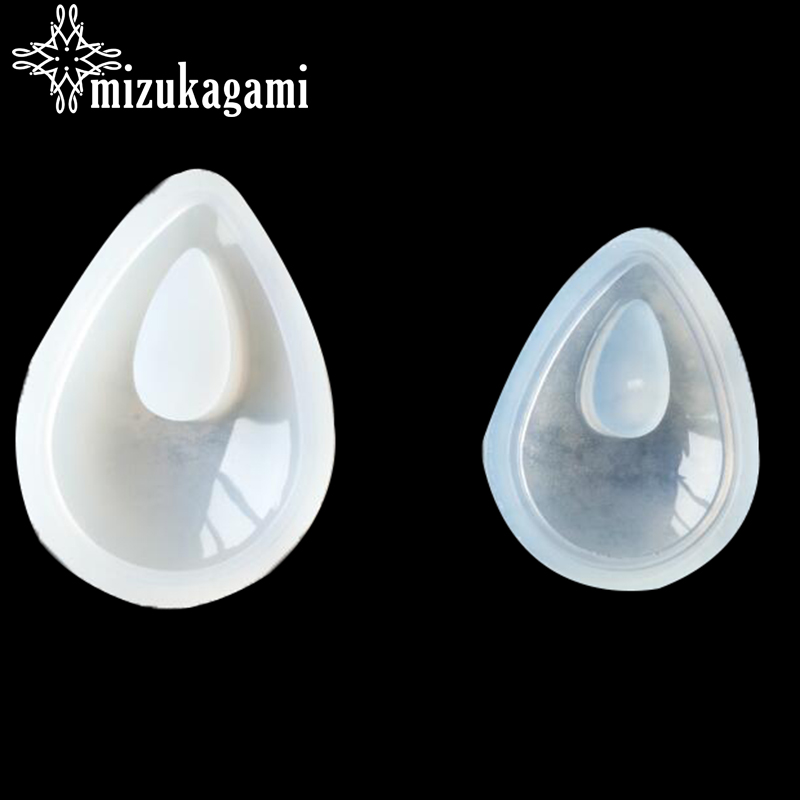 1pcs UV Resin Jewelry Liquid Silicone Hollow Big Small Mold Tear Water Drop Resin Mold For DIY Necklace Charms Making Jewelry