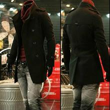 Double breasted woolen coat men trench coats long sleeves overcoat mens cashmere coat england stand collar black brown S – 9XL