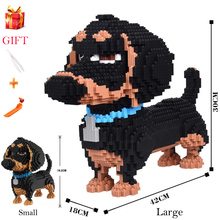 1PC Cute Animal Dog Pet Large Size Building Blocks Toy Educational Assemable Bricks Children Model Compatible With Gifts