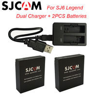 2PCS SJ6 Batteries Rechargable Battery Dual Charger For SJCAM SJ6 Legend Sport Action Camera Accessories