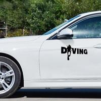 Fashion Diver Diving Sticker Car Auto Bumper Window Computer Decal Decoration PET Reflective Material 6