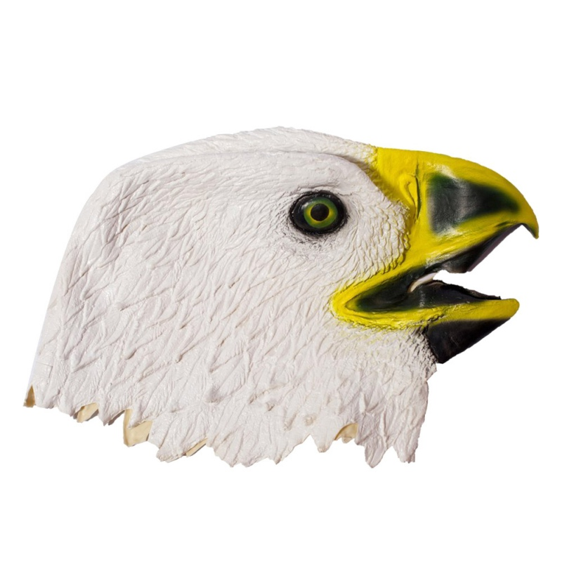 Mask White And Black Eagle Latex Animal Head Funny Mask For Halloween Costume Full Face