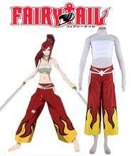 Envío Gratis Fairy Tail Titania Erza Scarlet Cuchillas de Hadas Anime Cosplay Uniforme