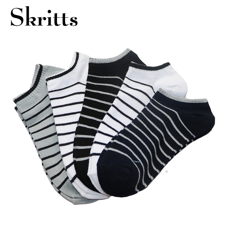 Skritts 3Pair Striped Mens Socks Male Business Dress Sock Fashion Invisible Men Ankle Sock Slippers Male Socks Meias Calcetines