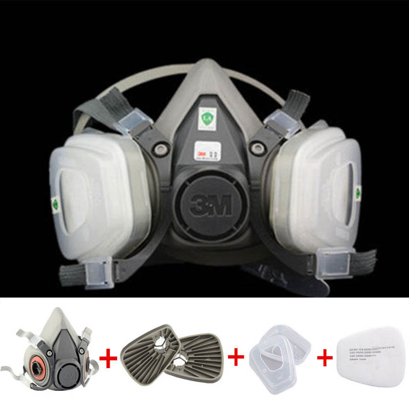 7 in 1 half Face Respirator 6200 Gas mask Spray Painting Protection Respirator Dust mask 9 in 1 suit gas mask half face respirator painting spraying for 3 m 7502 n95 6001cn dust gas mask respirator