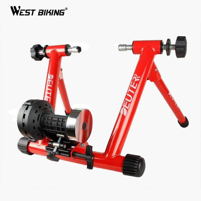 WEST BIKING Indoor Cycling Exercise Station Profession Bike Trainer Physical Training for Long Distance Match 26 to 28 Inch road bicycle exercise fitness station indoor training station mtb bike trainer folding roller training tool 3 stage folding