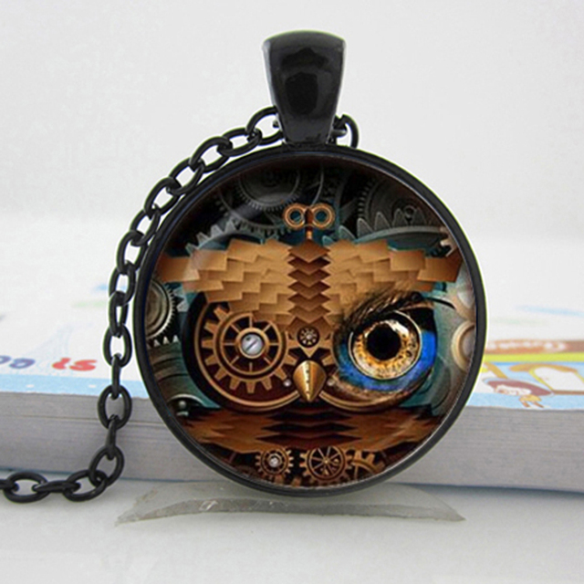 Steampunk Owl Necklace Pendant