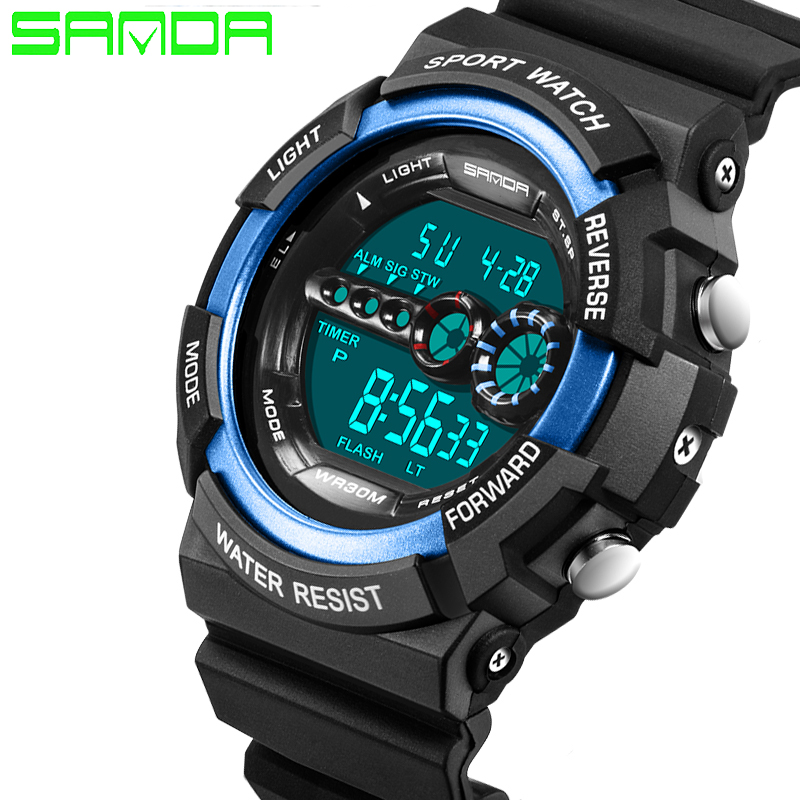 SANDA Luxury Brand Men Women Sports Watches Digital LED Military Watch Waterproof Outdoor Casual Wristwatches Relogio Masculino