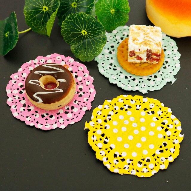 Dots Paper Lace Doilies Round Placemats 2