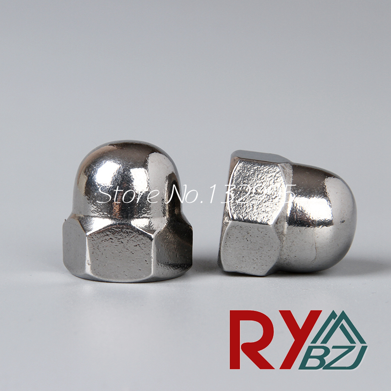 M3 M4 M5 M6 M8 M10 M12 M14 M16 M20 Hexagon domed cap nuts Acorn Nuts Stainless Steel A2 Decorate nuts SUS 304 DIN1587 цена в Москве и Питере