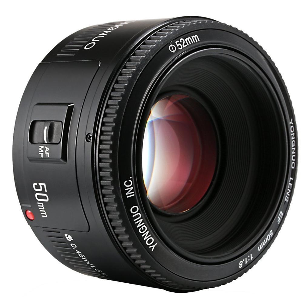 YONGNUO 50mm YN50MM F1.8 grande ouverture auto lentille focale EF AF/MF Pour Canon EOS 600D 550D 70D 700D 750D 1100D 1200D 1300D 200D - 3