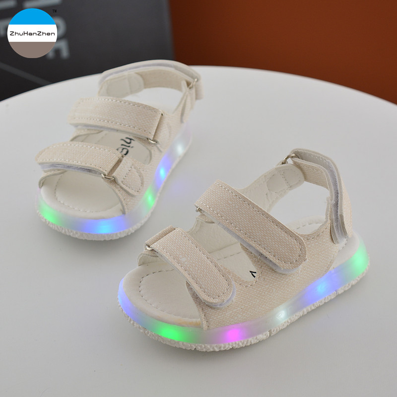 2017 Summer children lights sandals 1 to 3 years old baby