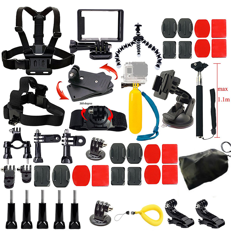 Gopro Camera Accessories Kit for Gopro Hero 5 4 3 4 Session 5 Session SJCAM SJ4000 SJ5000 Xiaoyi 4K M10 M20 Action Video Camera