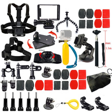 Gopro Camera Accessories Kit for Gopro Hero 5 4 3 4 Session 5 Session SJCAM SJ4000 SJ5000 Xiaoyi 4K M10 M20 Action Video Camera стоимость